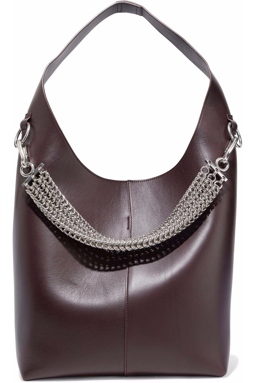 Alexander Wang Genesis Chain-embellished Leather Shoulder Bag in ... 2d670a82e5