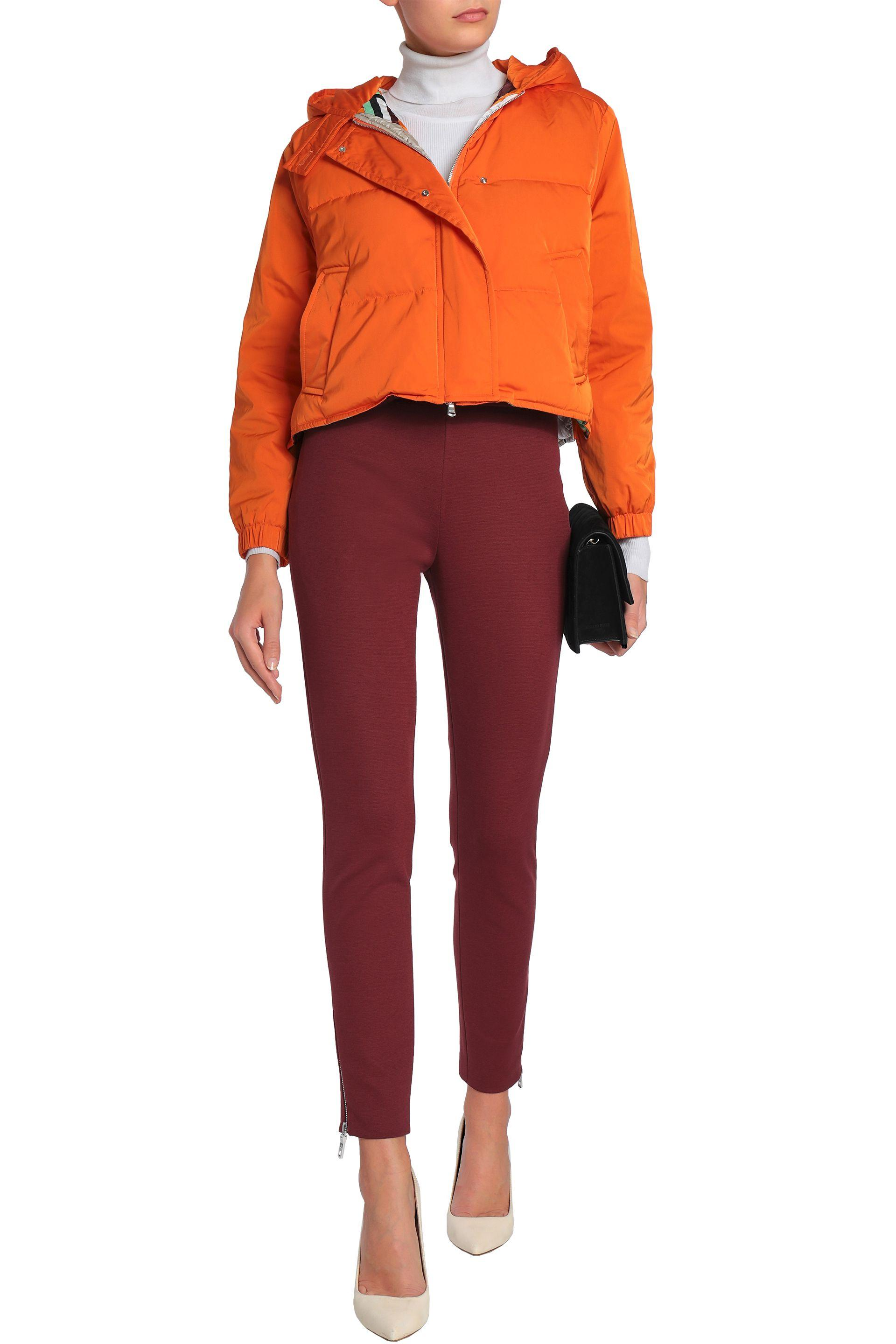 af44158d091a Emilio Pucci - Woman Quilted Shell Hooded Down Jacket Bright Orange - Lyst.  View fullscreen