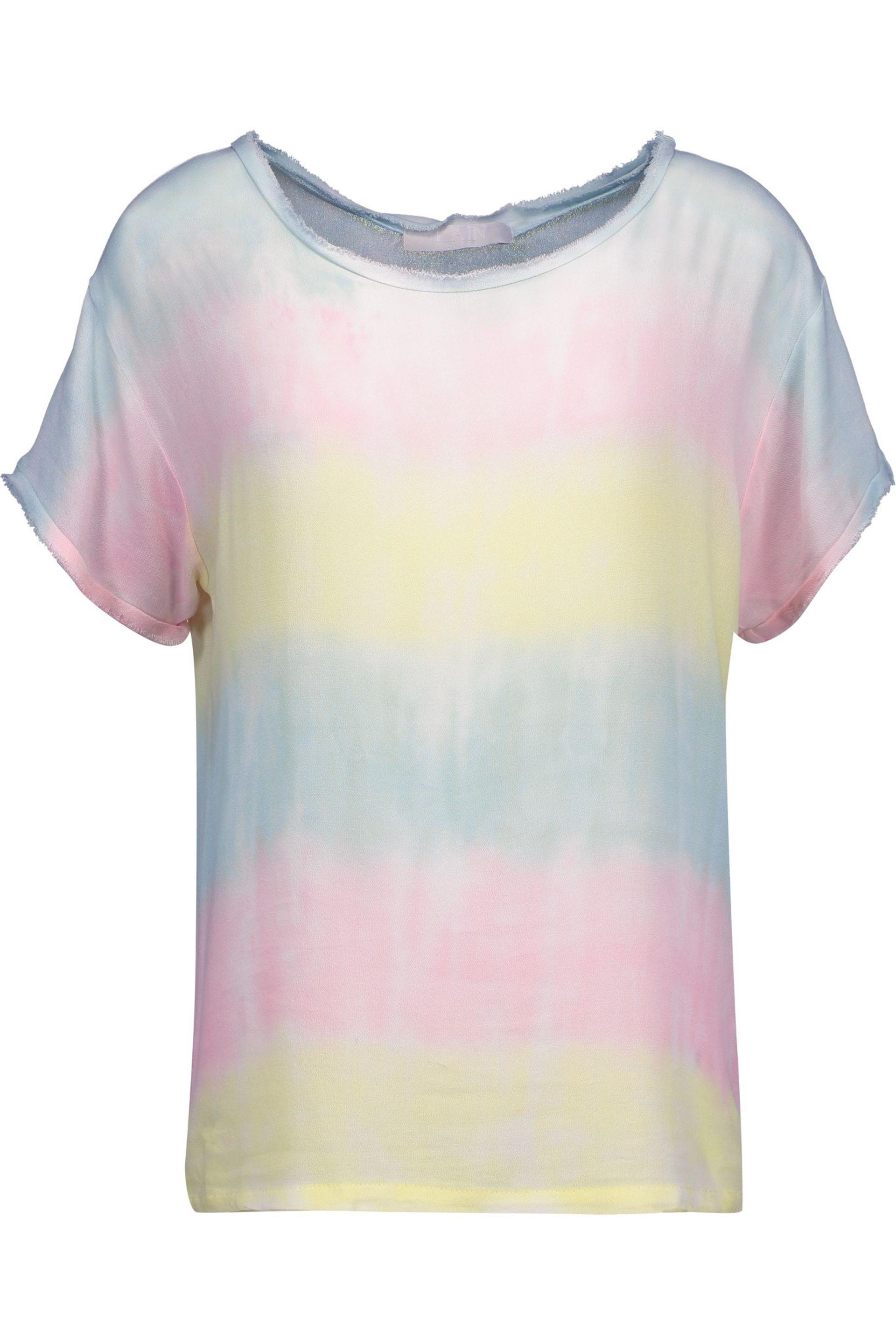 Kain Woman Bruni Frayed Tie-dyed Gauze Tank Baby Pink Size M Kain Free Shipping Fast Delivery li0jR4