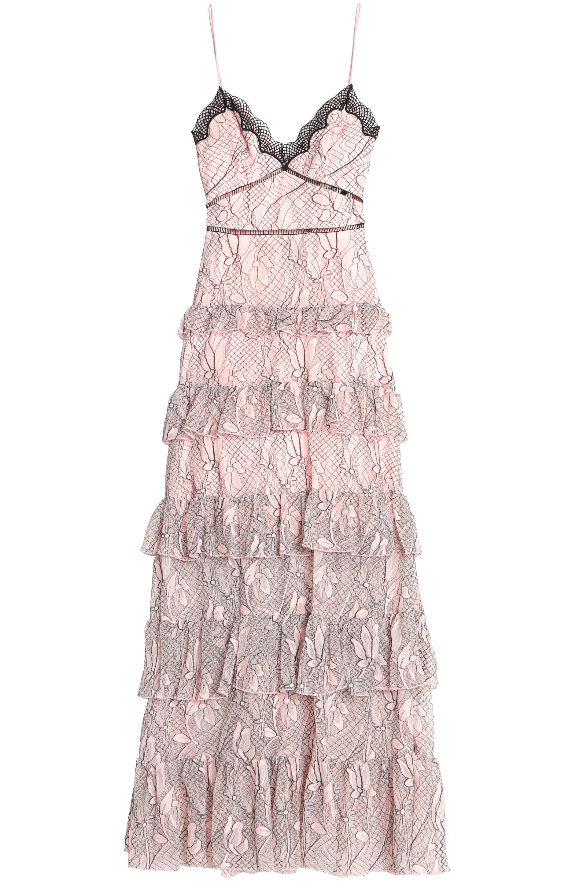 3dcc90130e0 Nicholas Iris Lace Gown in Pink - Lyst