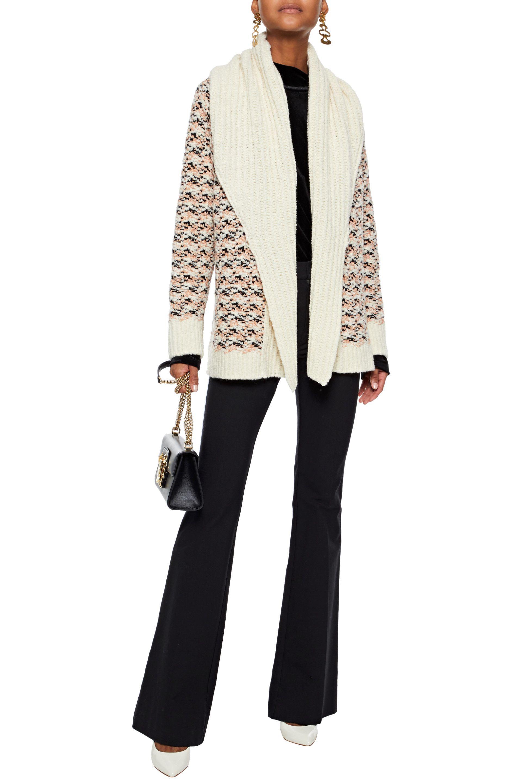 Missoni - White Woman Crochet-knit Wool-blend Cardigan Ivory - Lyst. View  fullscreen d035dbcb6
