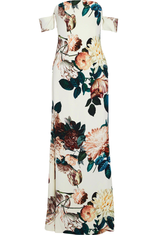 db07fa39e293 Lyst - Sachin   Babi Woman Sahni Off-the-shoulder Floral-print Crepe ...