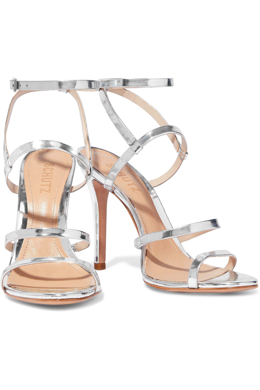 1091d84626c5 Schutz - Metallic Ilara Patent-leather Sandals - Lyst. View fullscreen