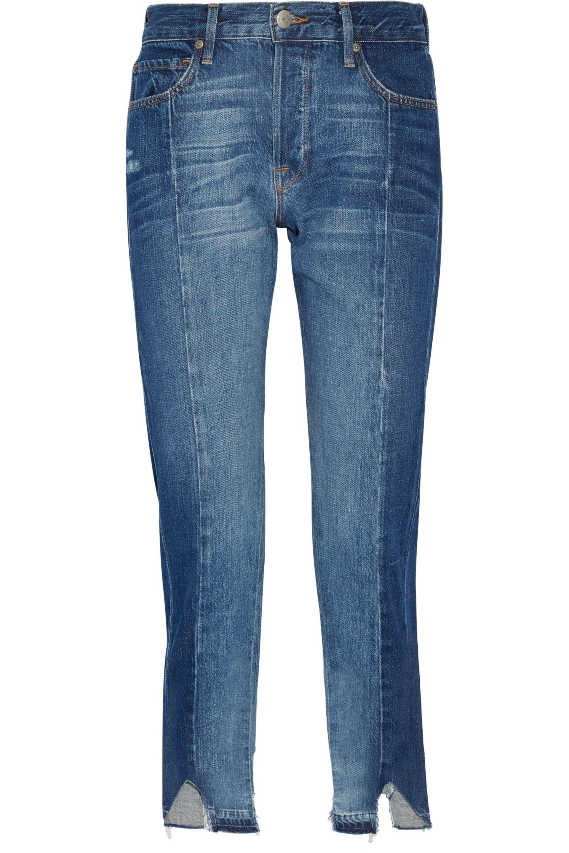FRAME. Women's Blue Le Original Mix Boyfriend Jeans