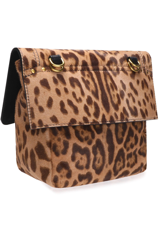Joseph Mortimer leopard-print calf-hair shoulder bag d7GXtX8JJ
