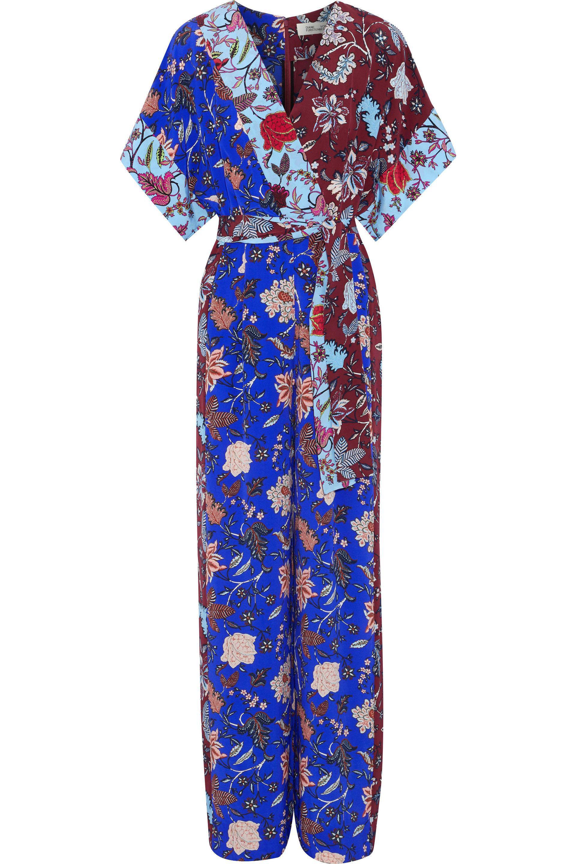 0c4ff79a3f88 Lyst - Diane von Furstenberg Woman Wrap-effect Belted Floral-print ...