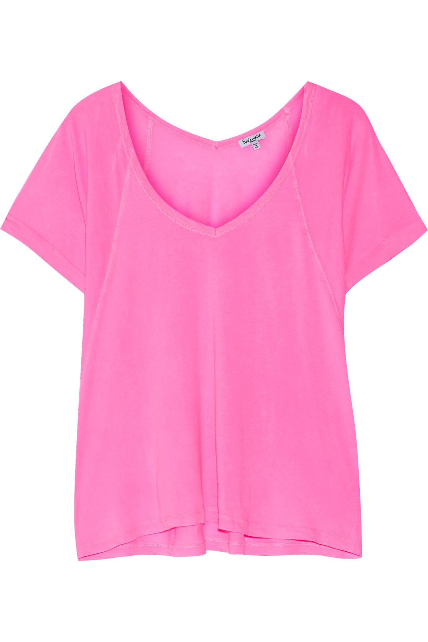 Lyst splendid vintage whisper supima cotton t shirt in pink for Supima cotton dress shirts