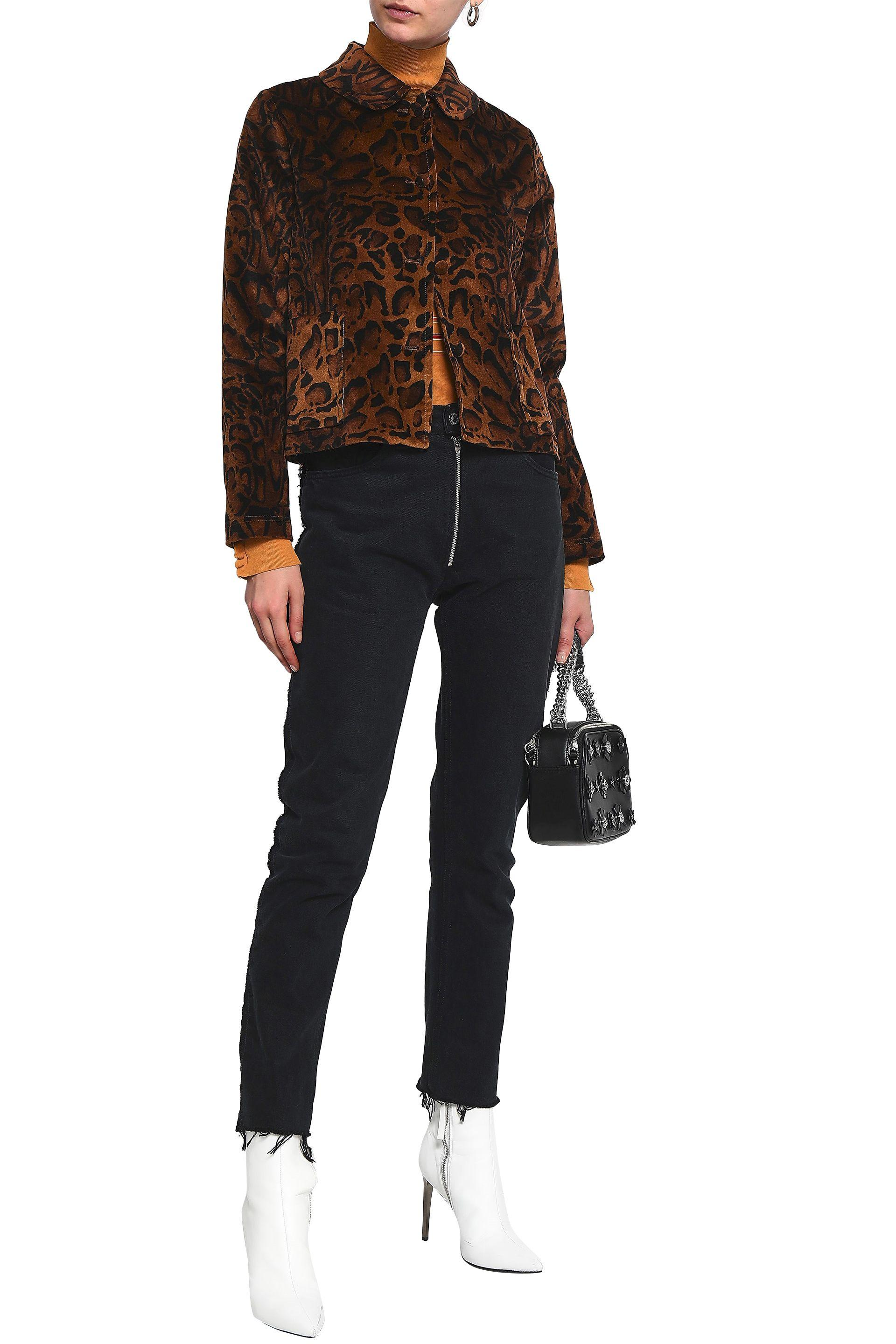 86f2f6517ad8 Shrimps - Multicolor Woman Printed Velvet Jacket Animal Print - Lyst. View  fullscreen