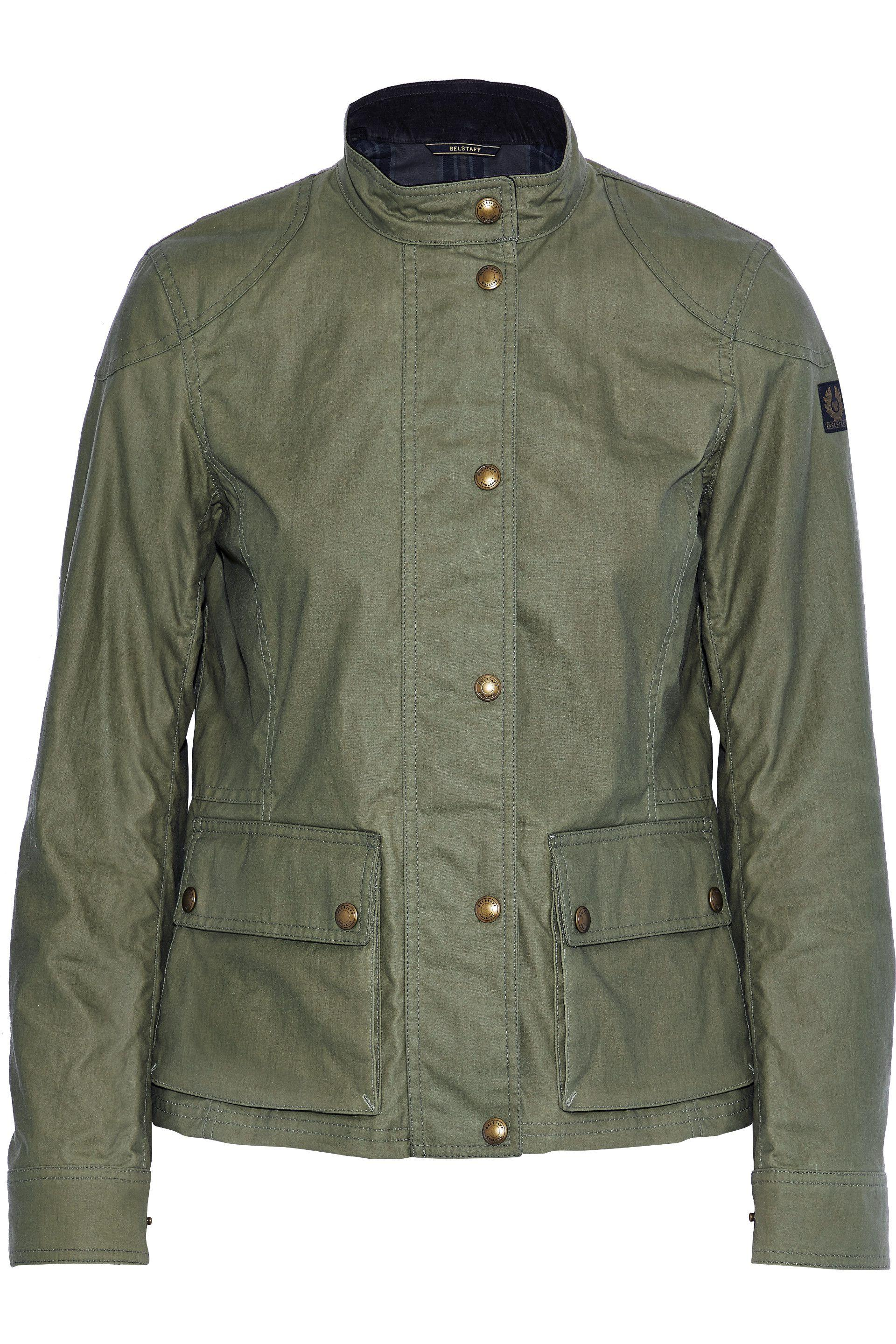 fc899026135b20 belstaff-Army-green-Woman-Longhan-Coated-cotton-Jacket-Army-Green.jpeg