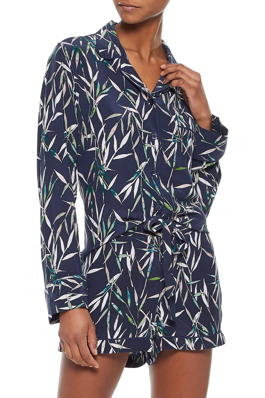 073df5793b Equipment - Blue Printed Washed-silk Pajama Set - Lyst. View fullscreen