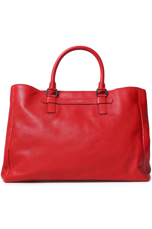 221da43be734 Lyst - Dolce   Gabbana Mediterranean Textured-leather Tote in Red