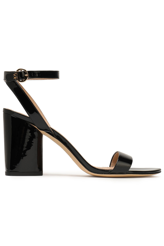 e09d231c3da Tory Burch Patent-leather Sandals in Black - Lyst