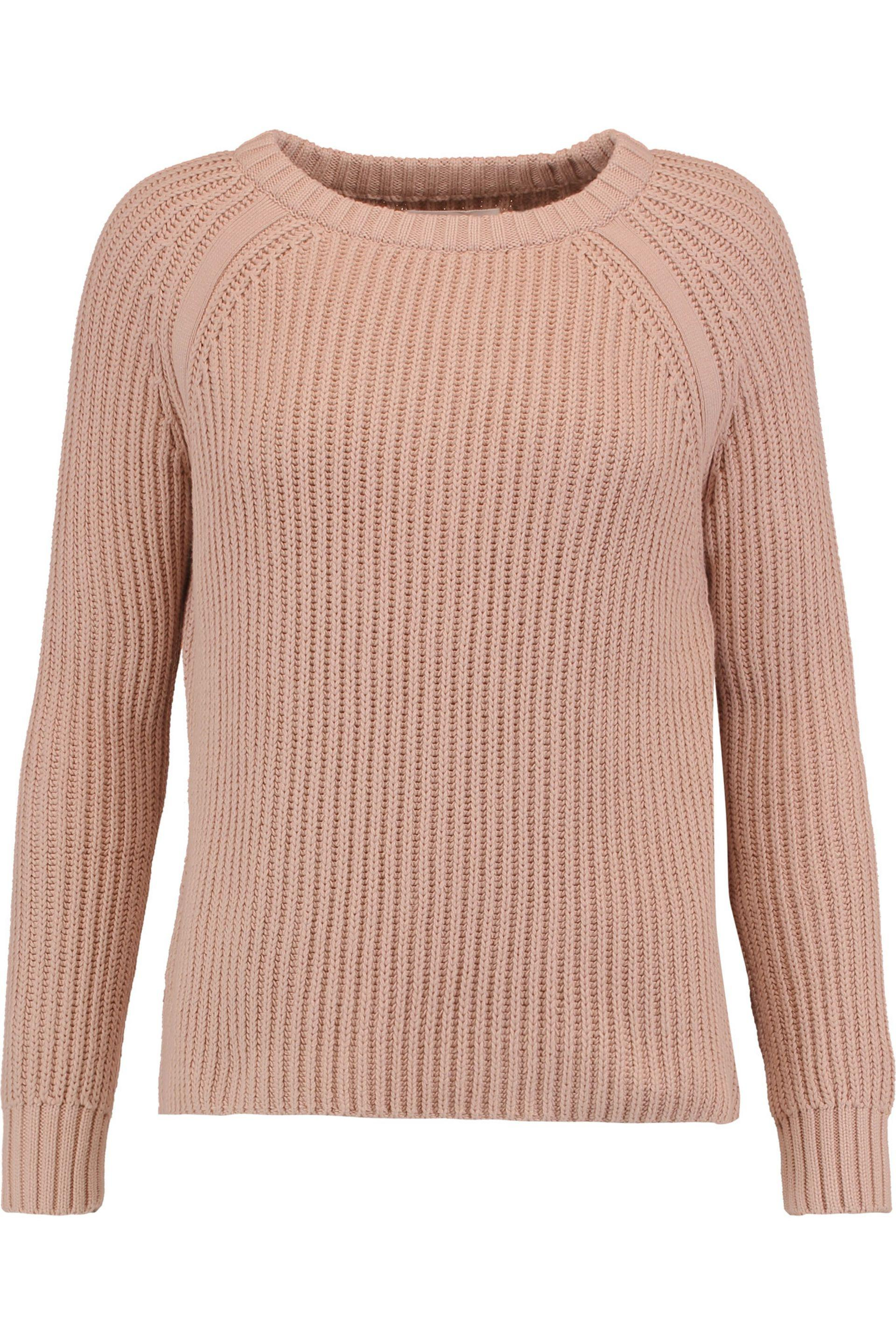 Best Prices For Sale M.i.h Jeans Woman Tie-back Waffle-knit Cotton Sweater Cream Size L Mih Jeans Shipping Discount Authentic erZBBl5d