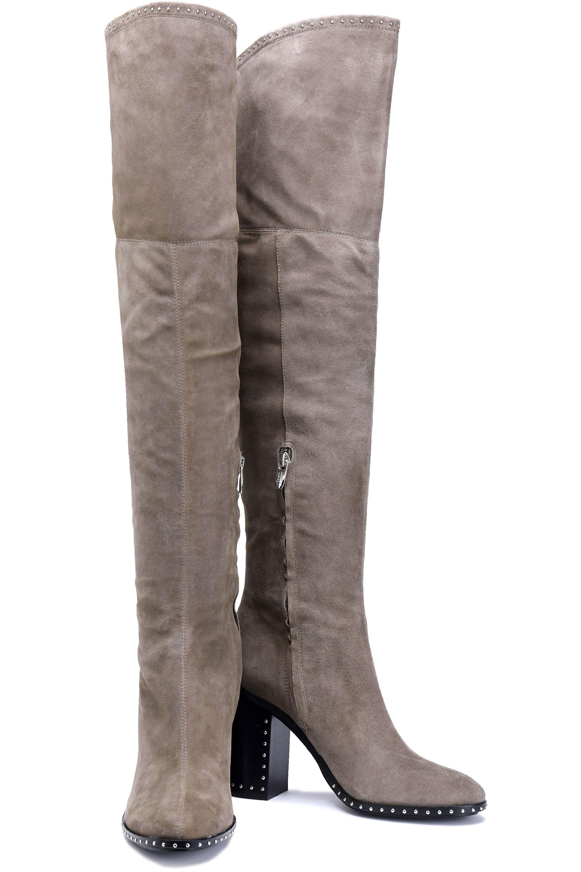 42823fcd45c Sigerson Morrison - Multicolor Woman Mars Studded Thigh Boots Taupe - Lyst.  View fullscreen