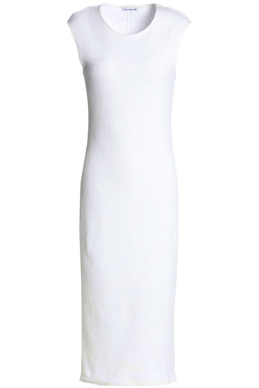 White Jersey Tank Midi Dress