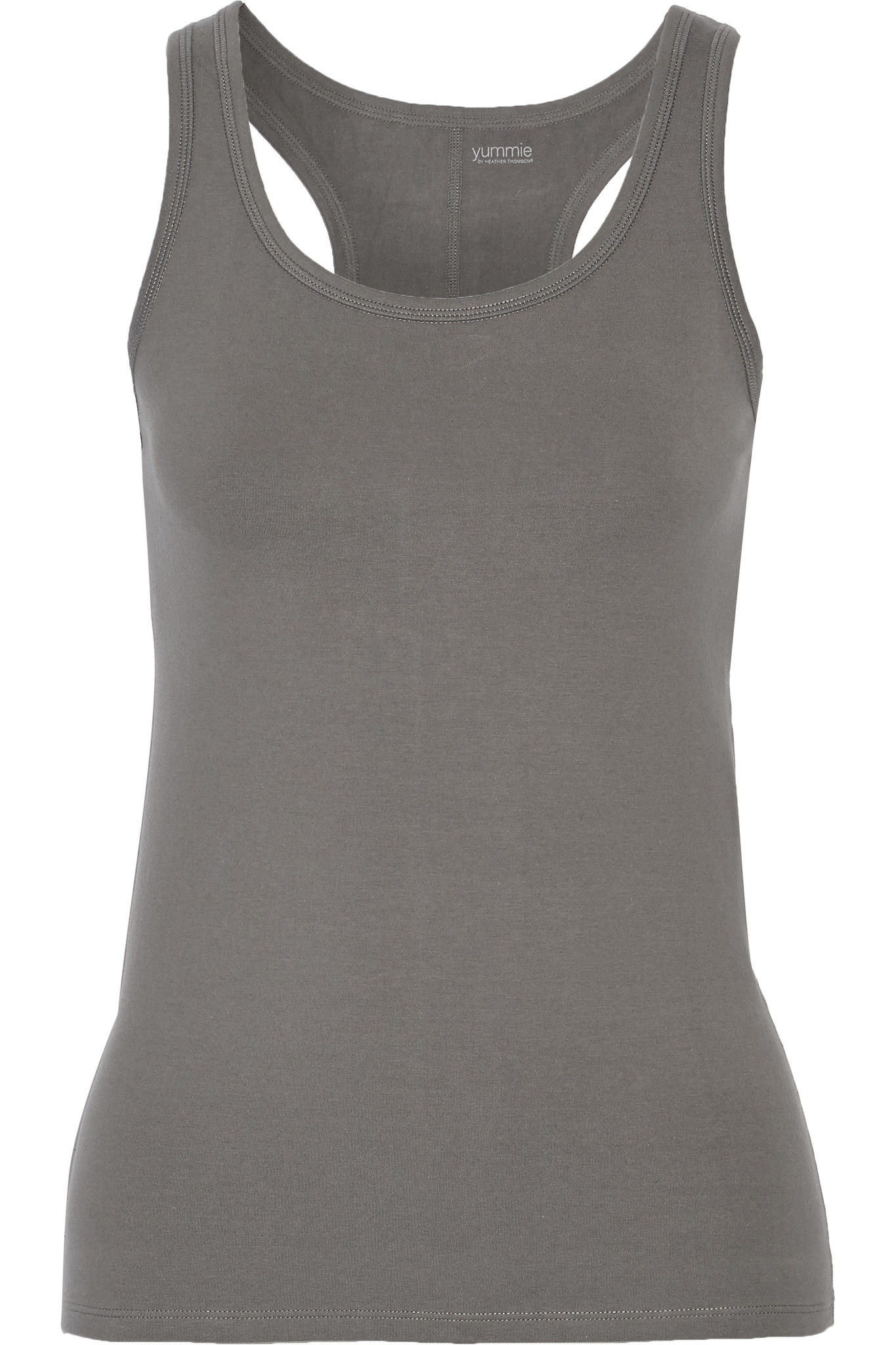 Yummie By Heather Thomson. Women's Gray Maria Stretch Cotton-blend Tank