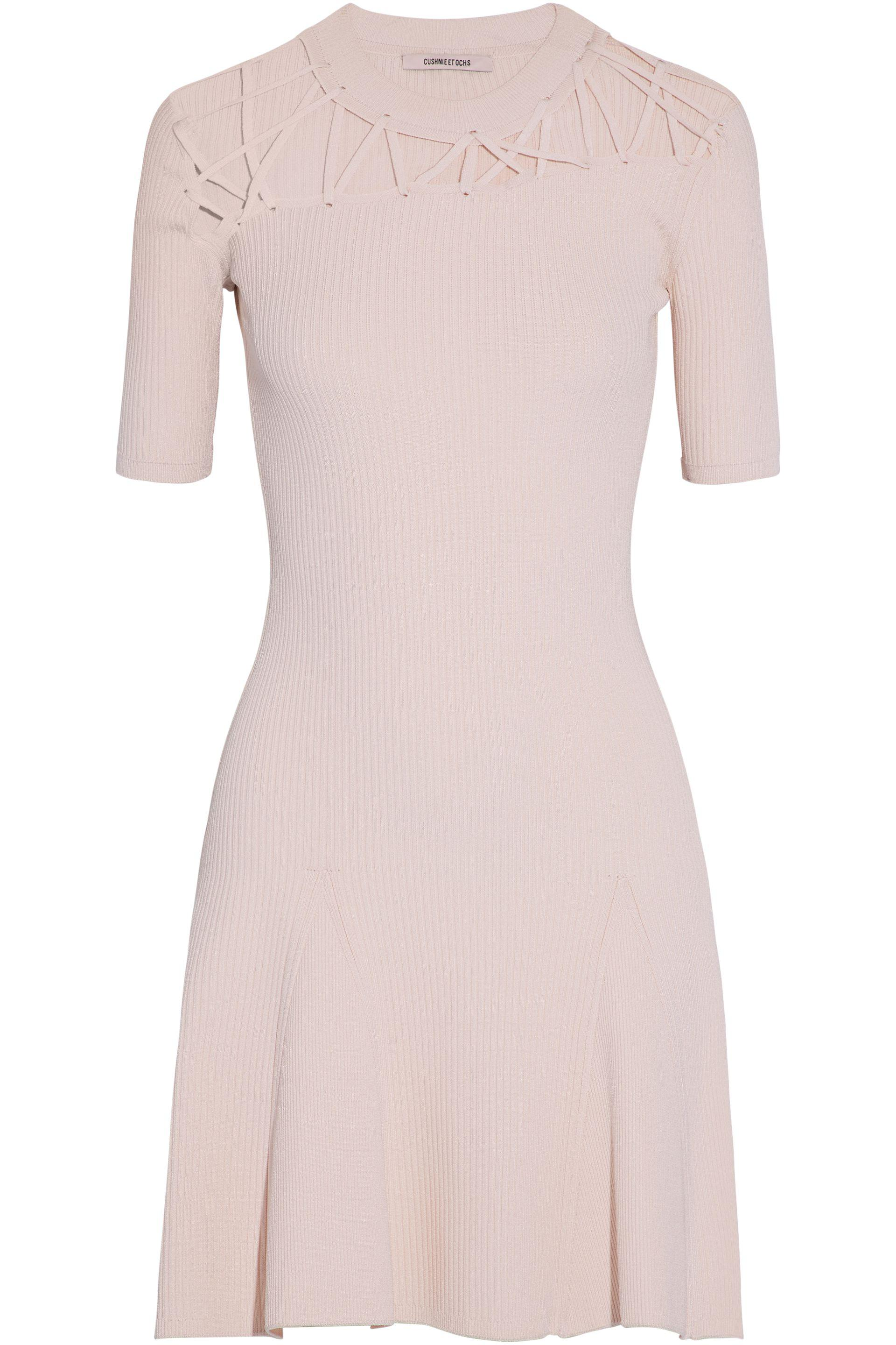 Cushnie Et Ochs Woman Cutout Ribbed-knit Midi Dress White Size M Cushnie et Ochs WRfqk