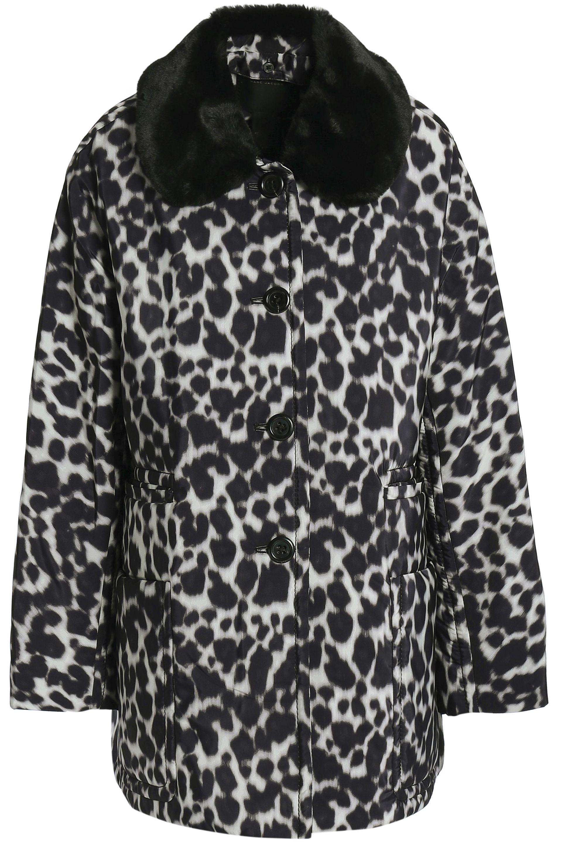 a895b9135a73 Marc Jacobs Woman Leopard-print Faux Fur-trimmed Shell Down Jacket ...