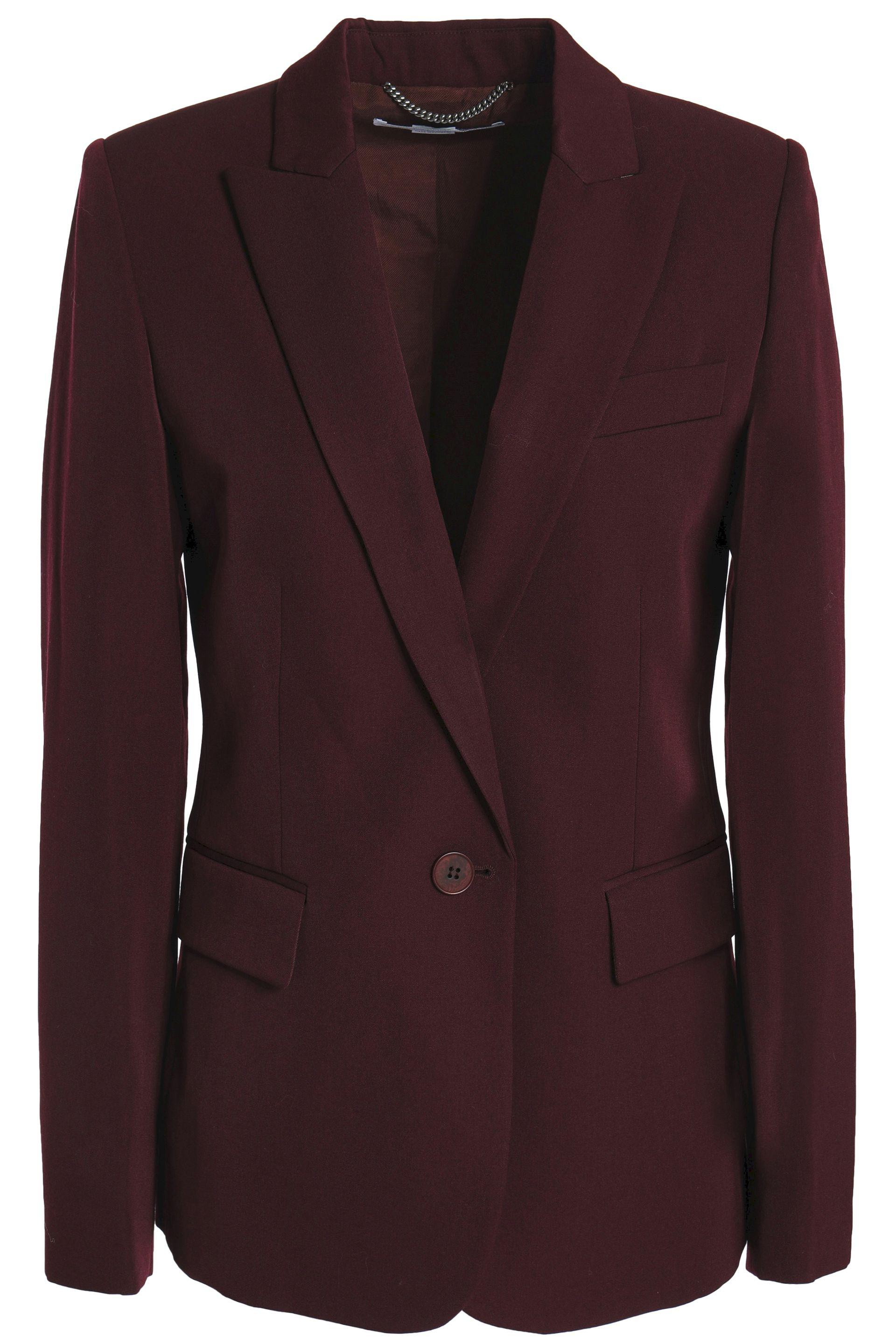 7896b0d48a6 Stella Mccartney Wool-twill Blazer in Purple - Lyst