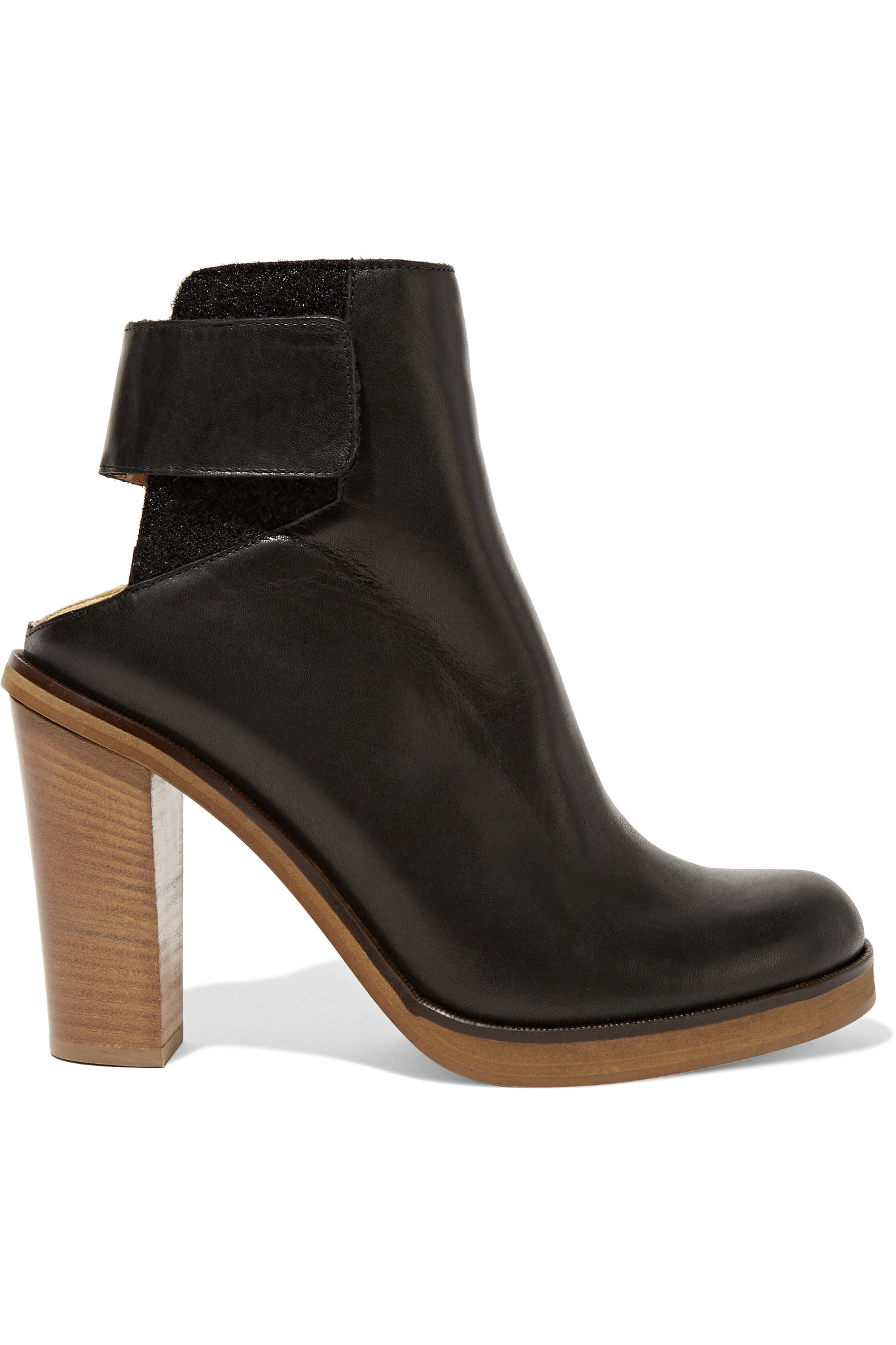Mm6 by maison martin margiela leather ankle boots in black for Mm6 maison martin margiela