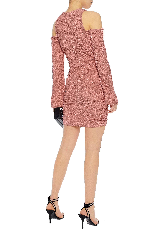 64d2200f4064 rebecca-vallance-designer-Antique-rose -Woman-Cold-shoulder-Lace-up-Ruched-Cloque-Mini-Dress-Antique-Rose.jpeg