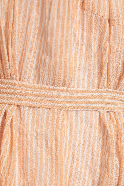 08c60b6d56 Lisa Marie Fernandez - Woman Striped Cotton-blend Seersucker Coverup Pastel  Orange - Lyst. View fullscreen