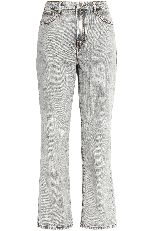 Maje Femme Perla Délavé Grande Hauteur Des Jeans Jambe Droite Lumière Gris Taille 38 Maje rOK9FaBuvV