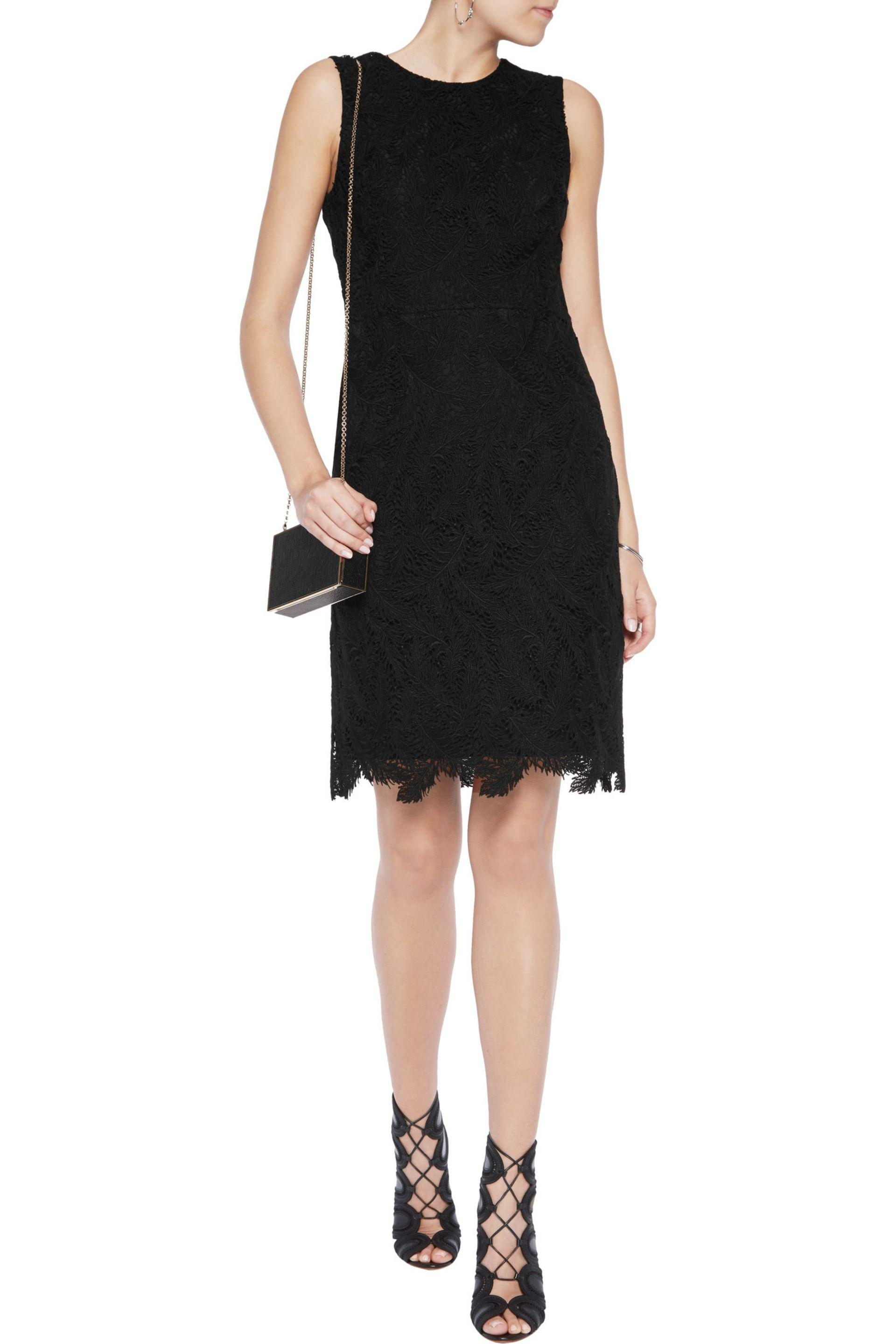 Emilio Pucci - Black Cotton-blend Macramé Lace Dress - Lyst. View Fullscreen