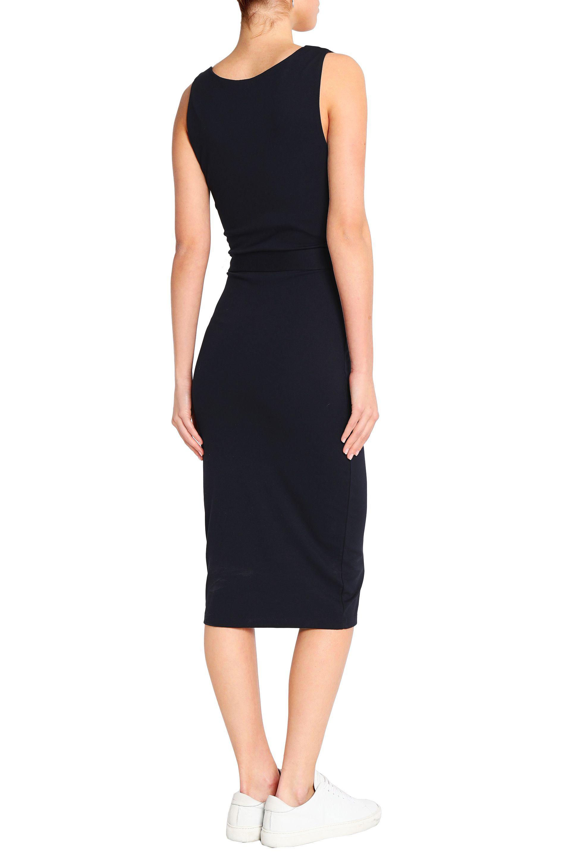 Discount Top Quality Buy Cheap Real Iris & Ink Woman Toni Belted Jersey Midi Dress Midnight Blue Size XL IRIS & INK Cheap Sale Amazing Price lJNVkUE2dV