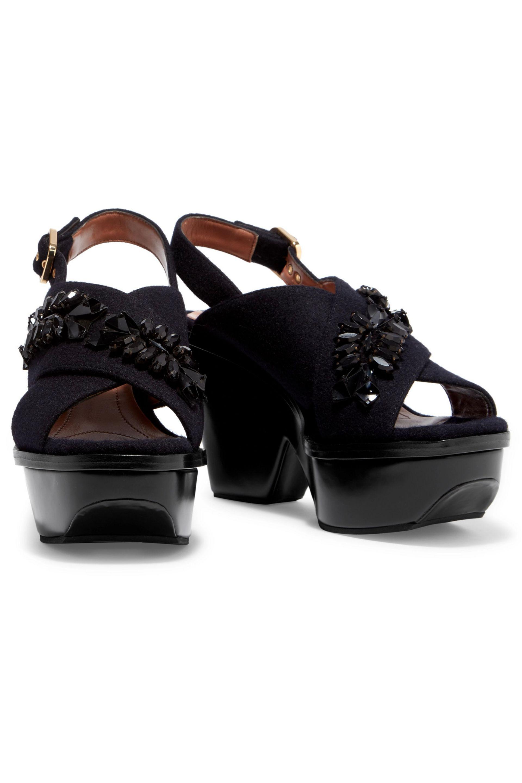 Marni Felt Embellished Sandals discount fake many kinds of for sale S7HgYVsRk