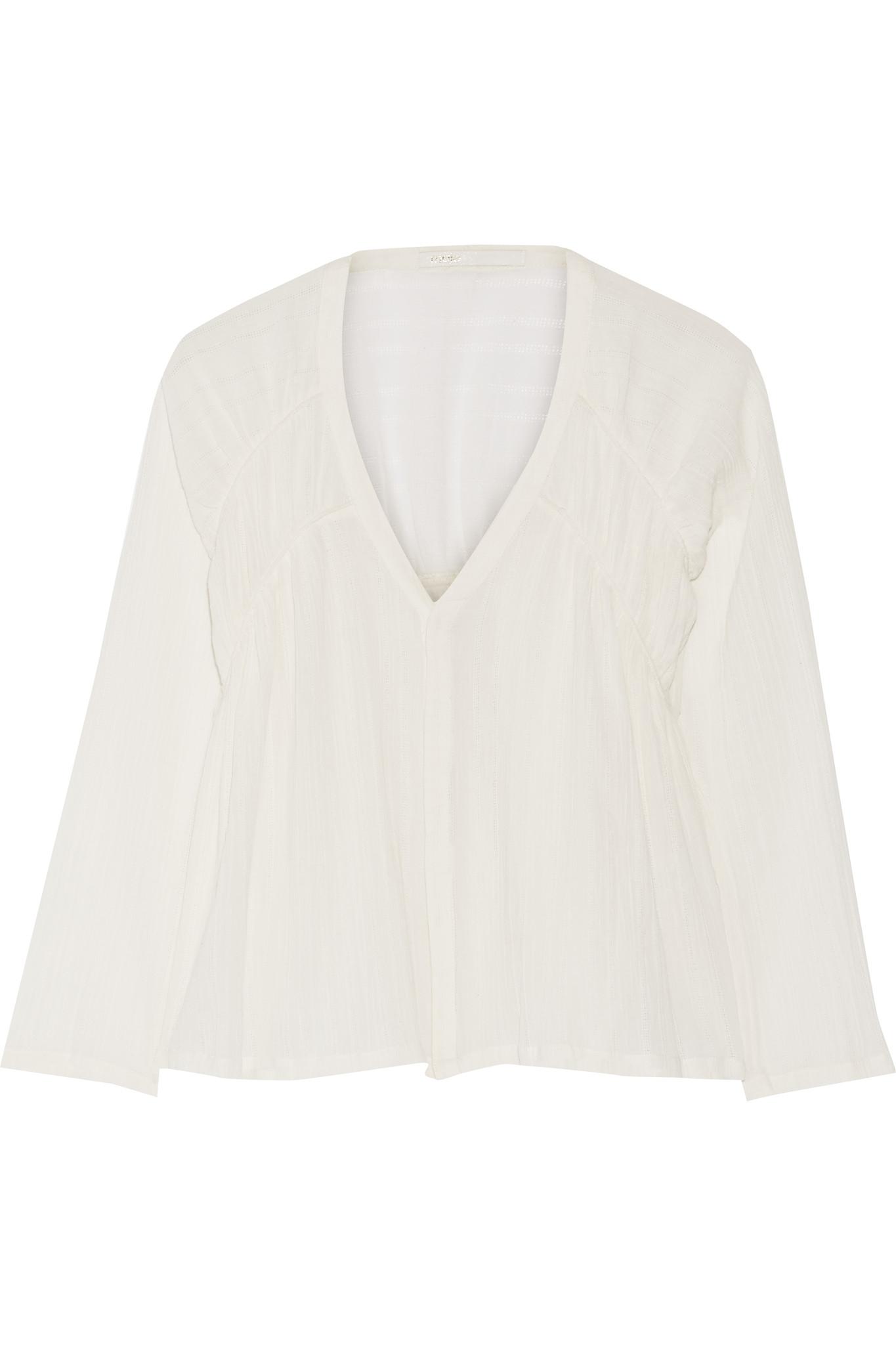 White Cotton Gauze Blouses 52