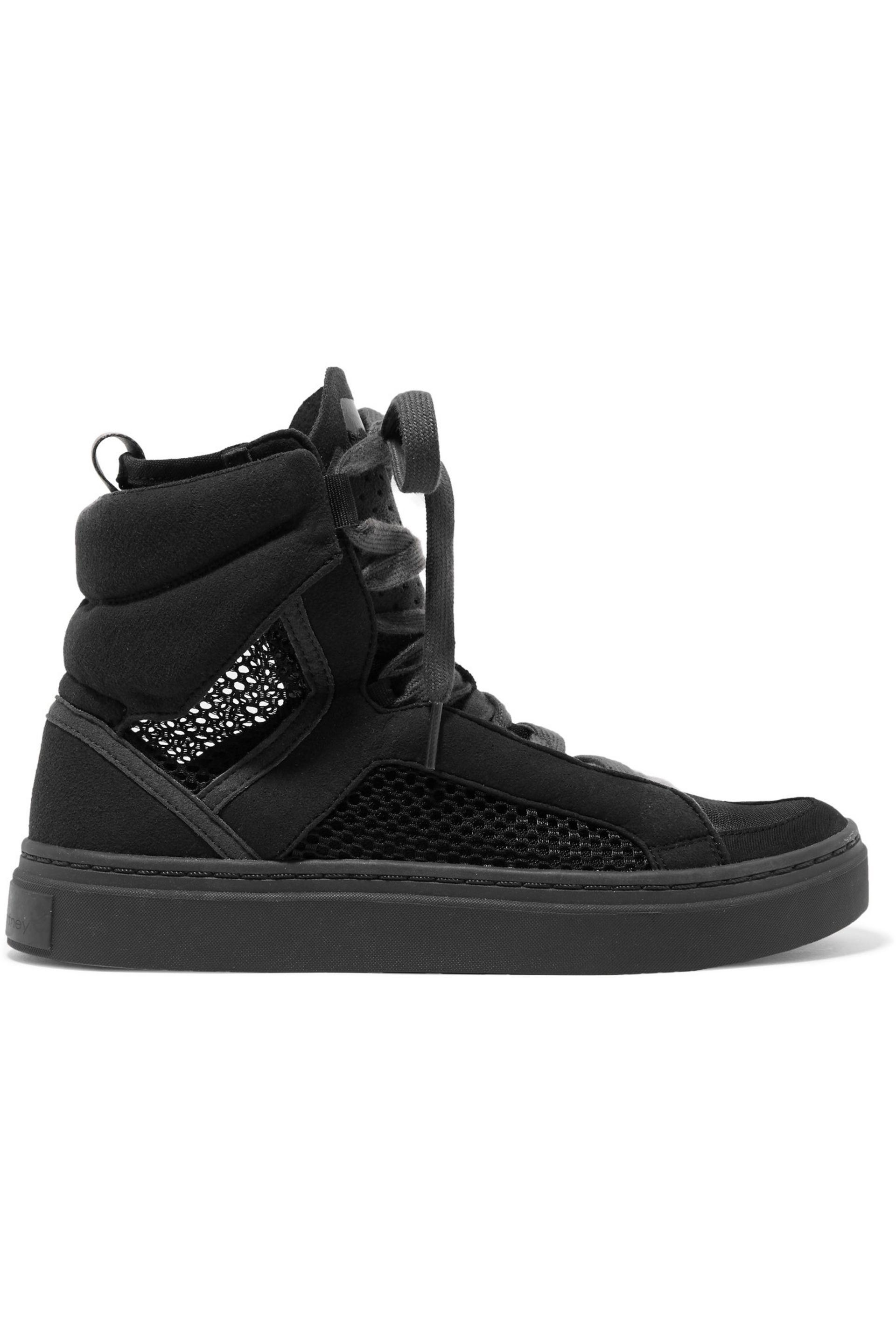 Adidas By Stella Mccartney Mesh And Faux Suede High-Top -1084