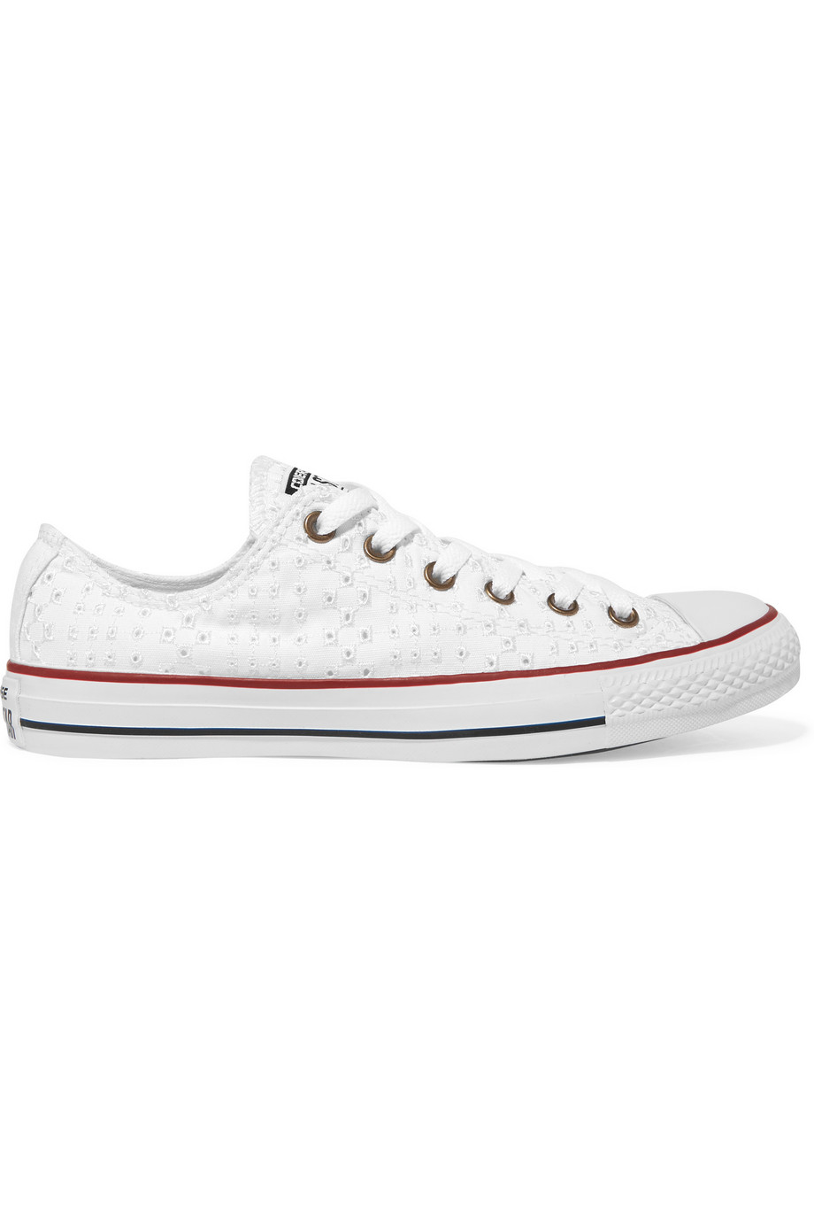 8226be8b70f Converse Chuck Taylor Broderie Anglaise Sneakers in White - Lyst