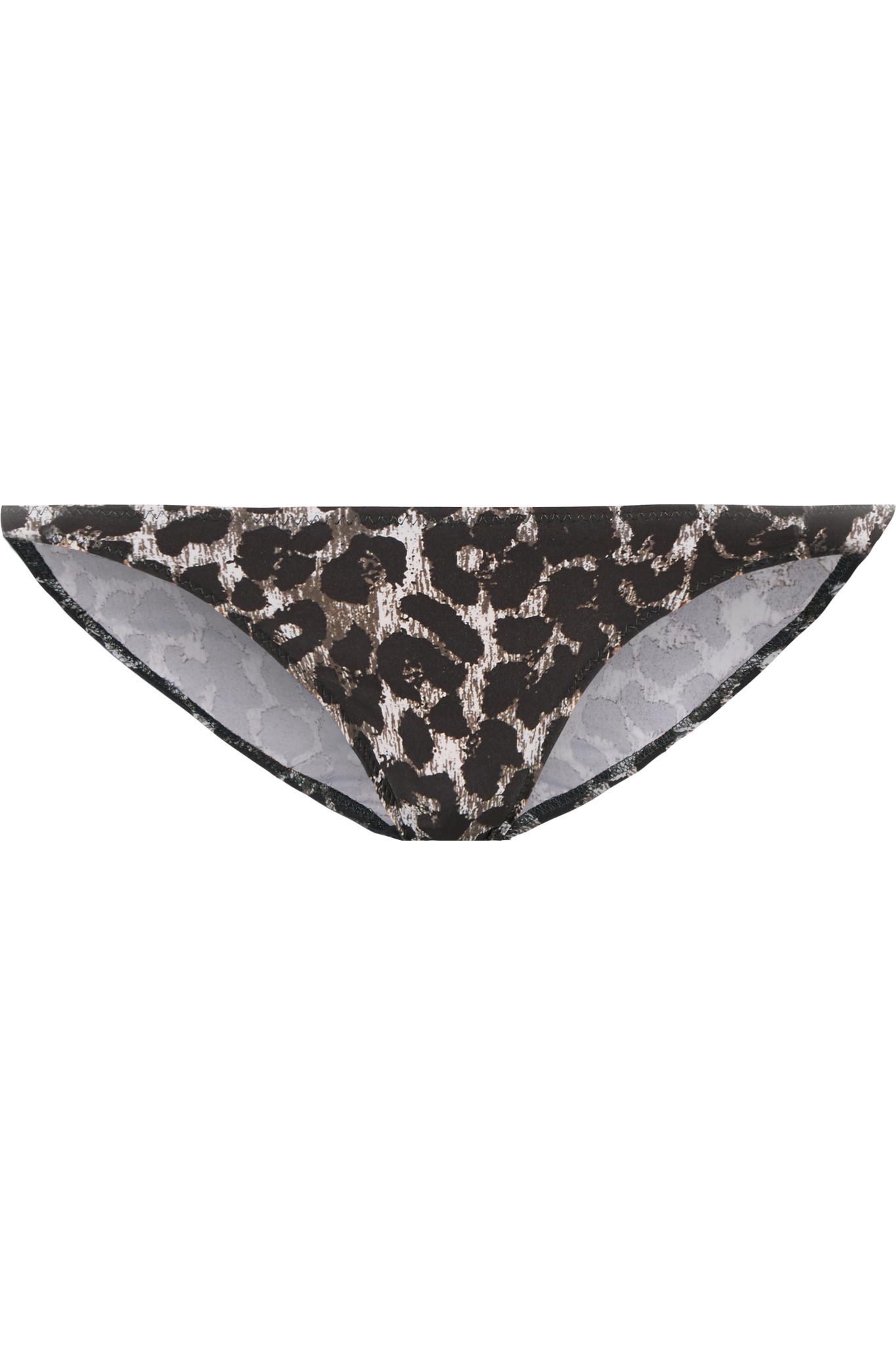 Norma kamali eric cheetah print bikini briefs in brown lyst - Norma kamali costumi da bagno ...