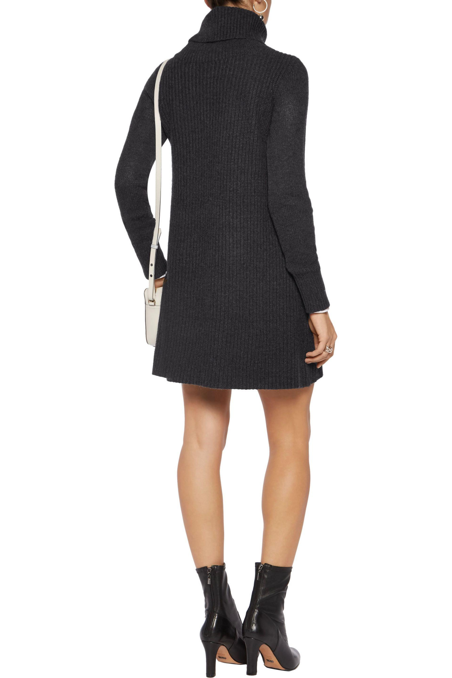 Madeleine Thompson Woman Andros Wool And Cashmere-blend Turtleneck Dress Dark Gray Size XL Madeleine Thompson Affordable Sale Online Discount Low Price Up To Date Good Selling For Sale OYKoYUR3i