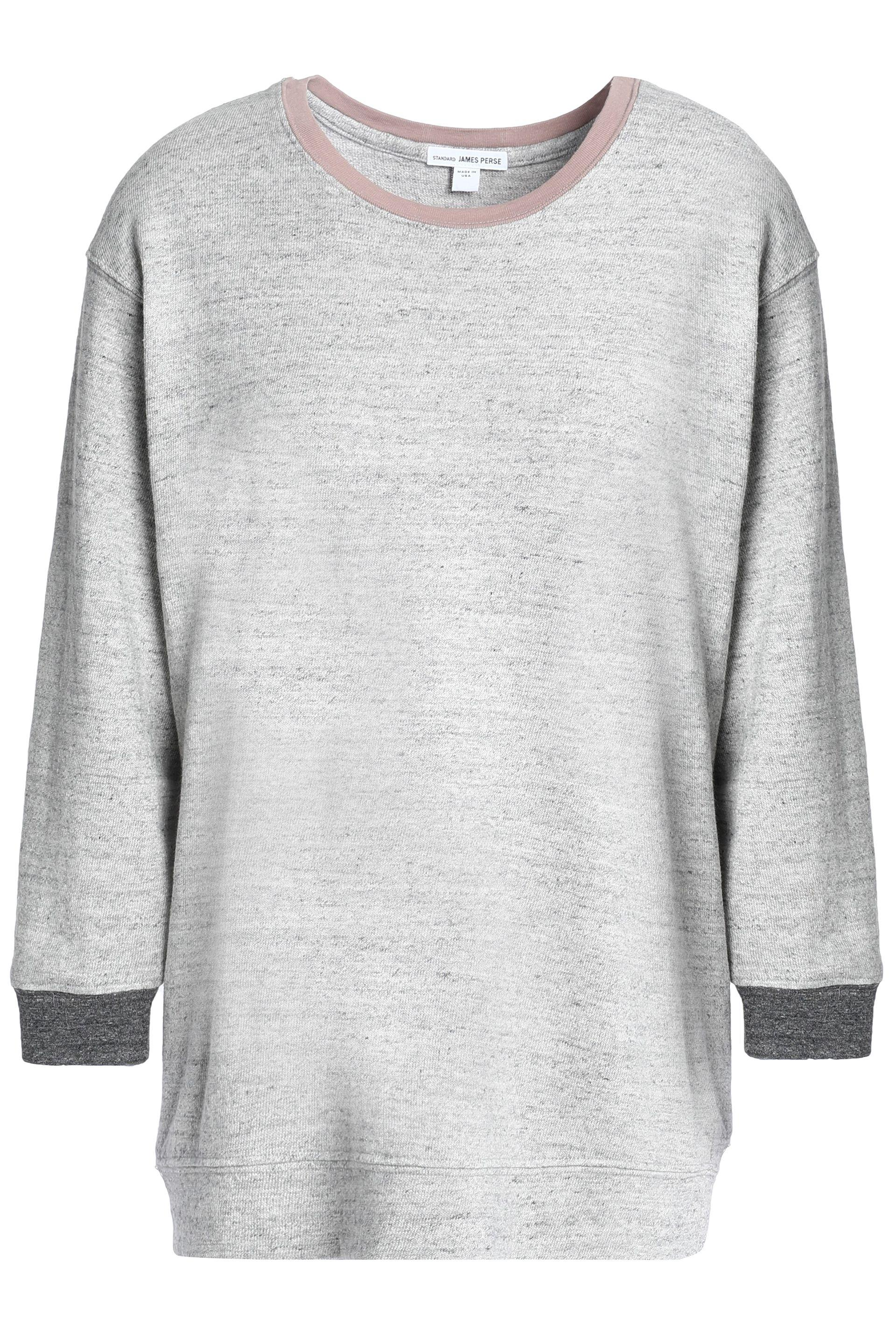 45622b2751 James Perse Woman Mélange Cotton-terry Sweatshirt Light Gray in Gray ...