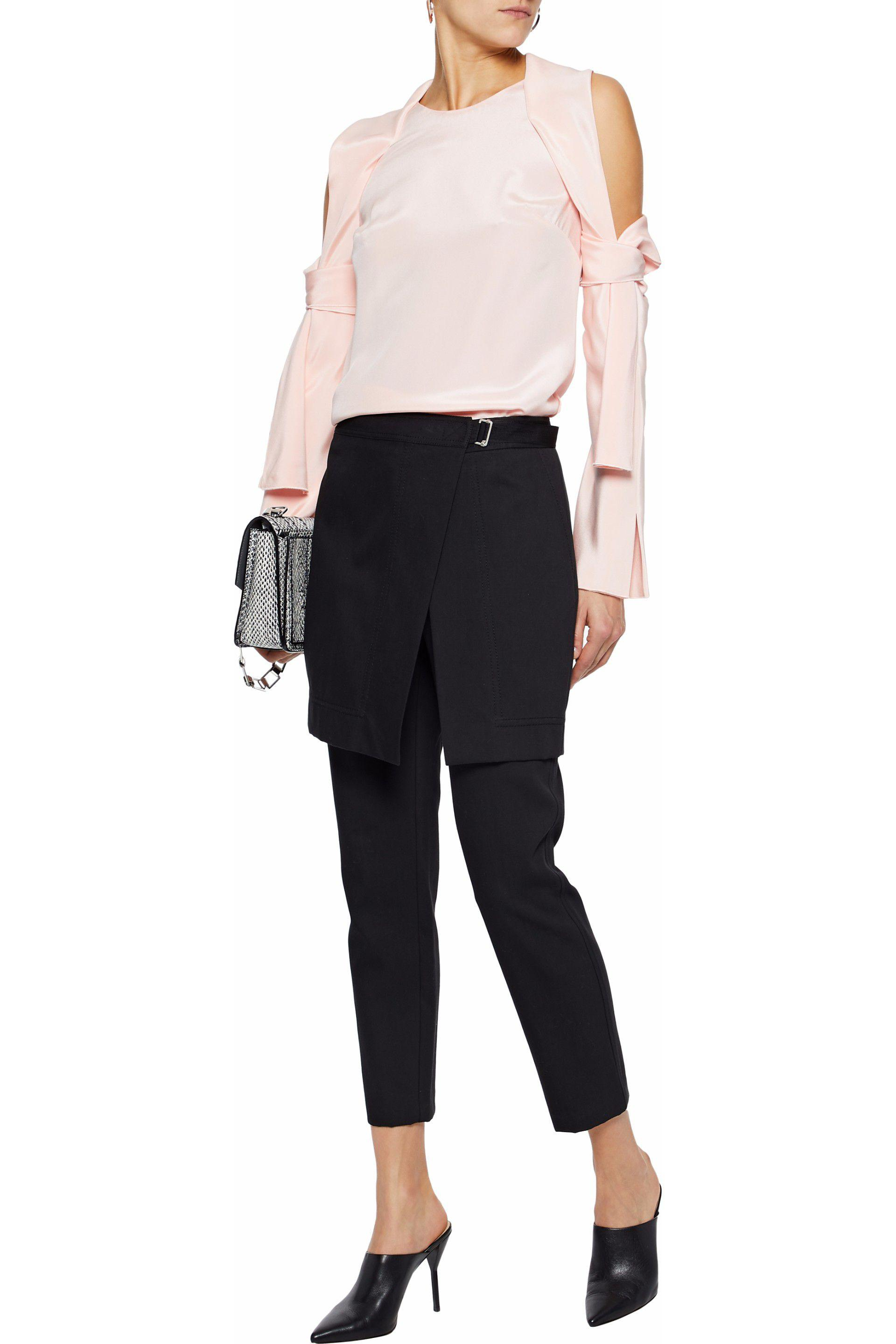 f85a98fafded52 Lyst - 3.1 Phillip Lim Cold-shoulder Silk Top in Pink