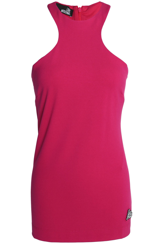 Love Moschino Woman Appliquéd Jersey Mini Dress Fuchsia Size 44 Love Moschino Amazon For Sale RsSov