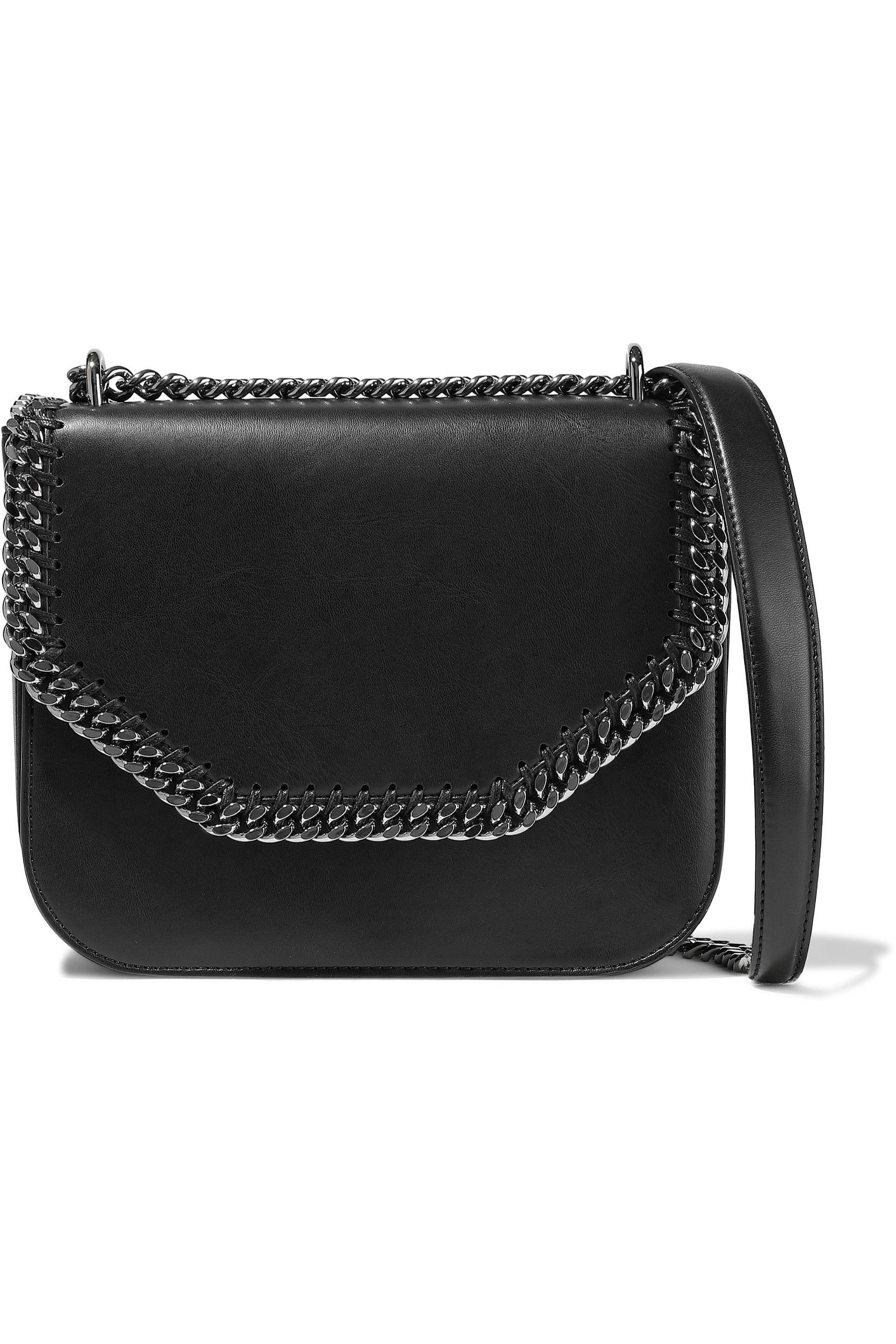 173f726929f Lyst - Stella Mccartney Falabella Faux Leather Shoulder Bag in Black