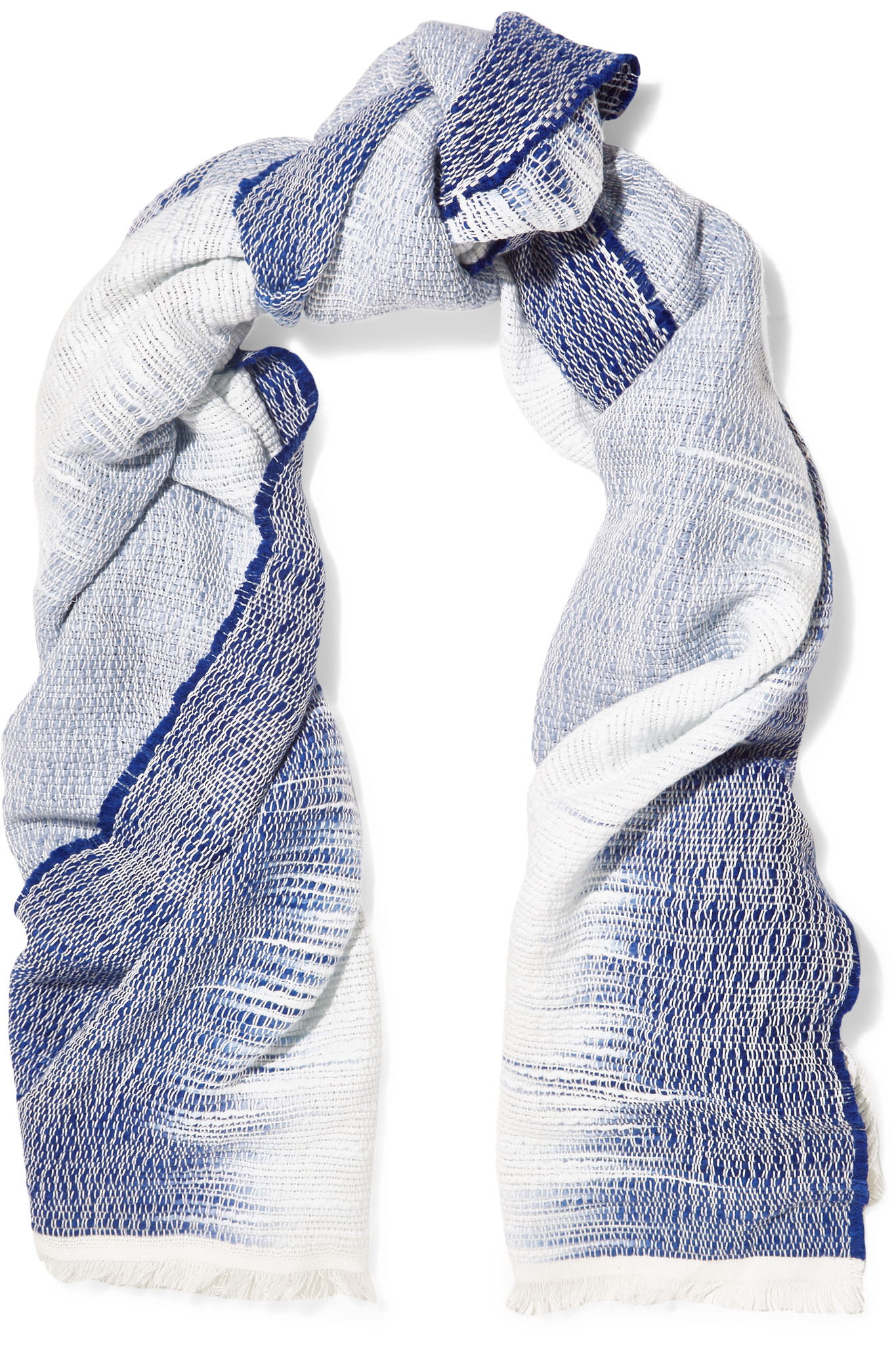 rag bone ombr 233 woven cotton scarf in blue lyst
