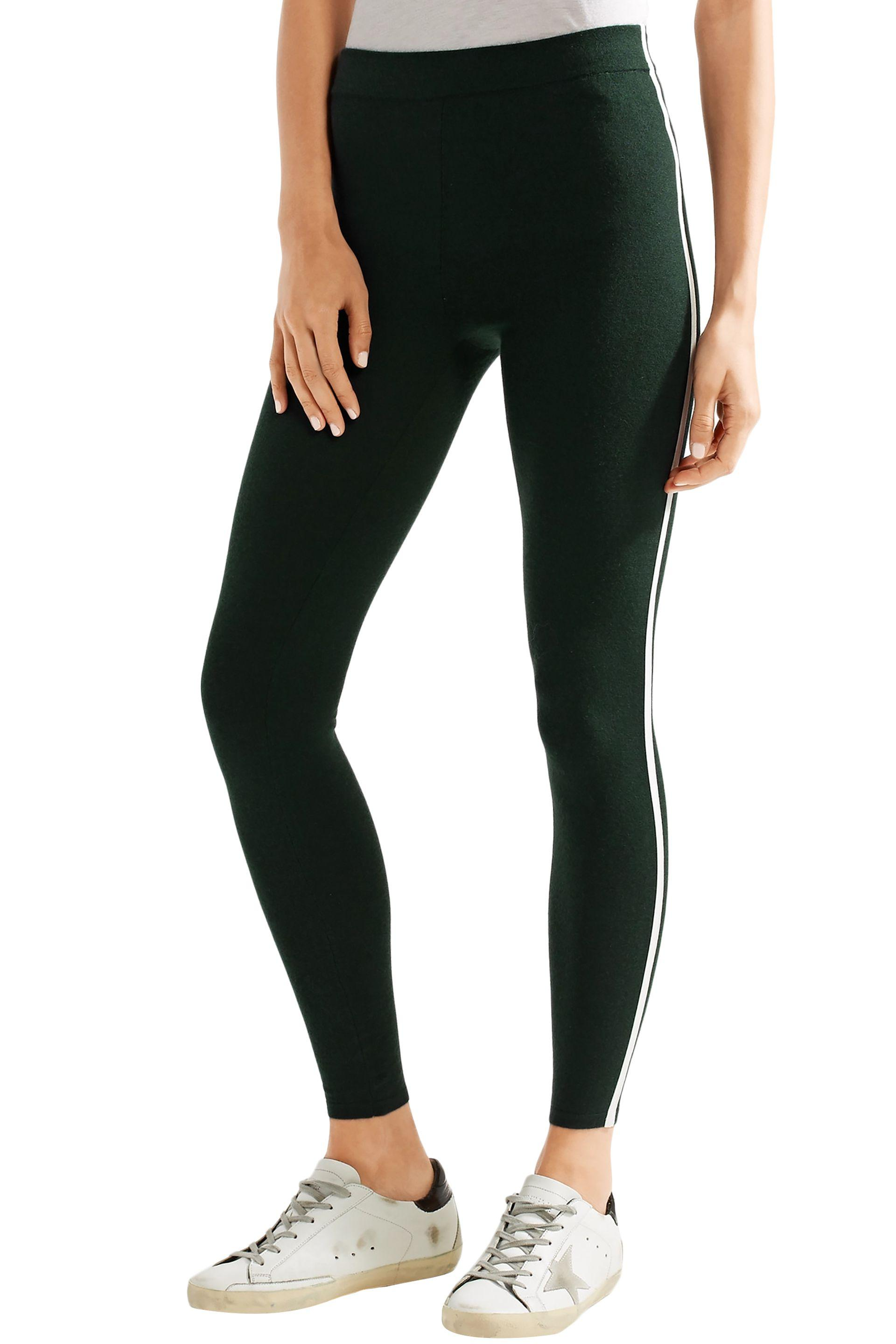 2e86035d46b1a2 James Perse - Black Cashmere-blend Leggings Dark Green - Lyst. View  fullscreen