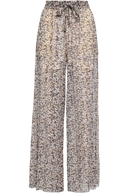 cebb3bcf52 Zimmermann. Women s Woman Printed Silk-georgette Wide-leg Trousers Black