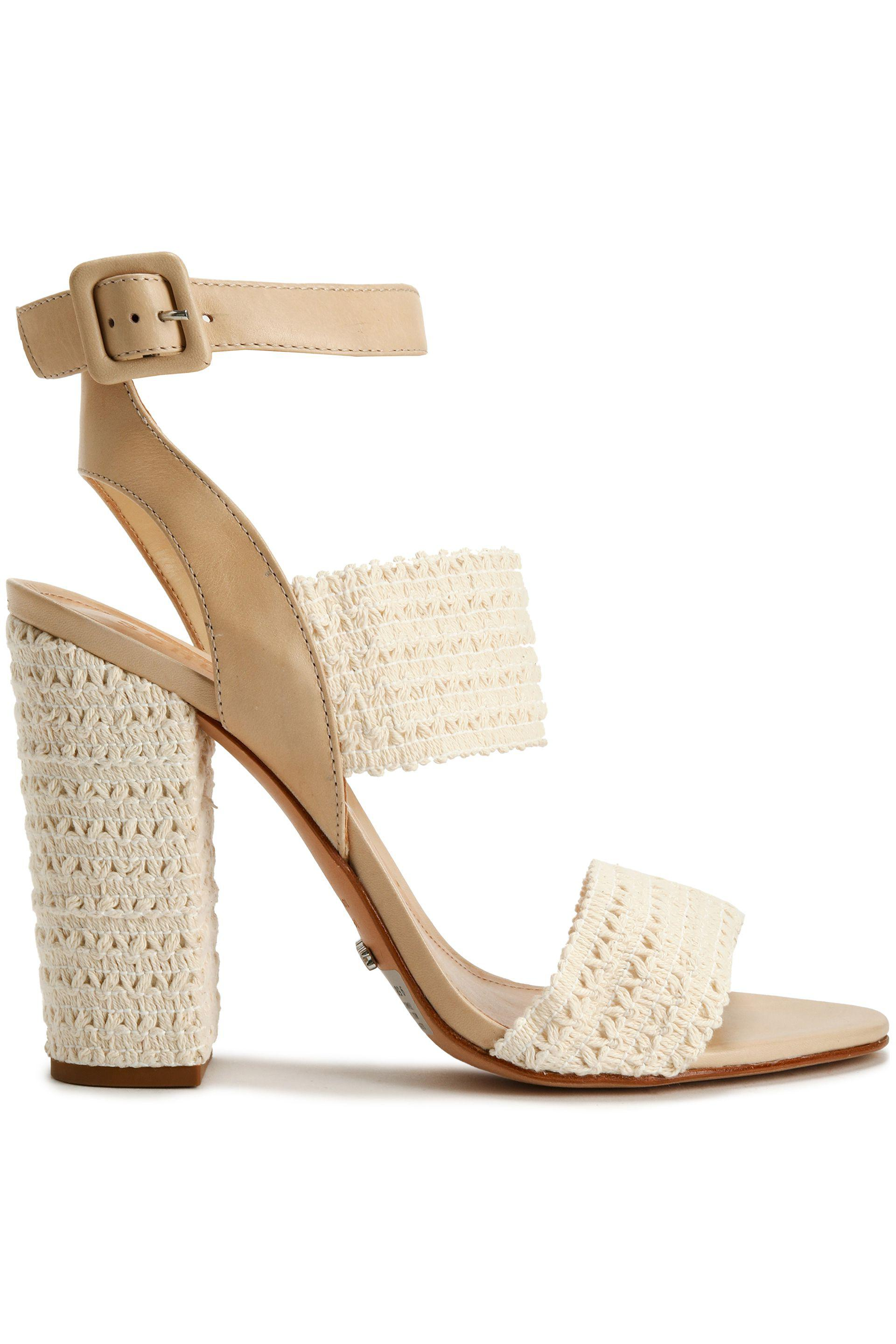 Schutz. Women's Crocheted And Leather Sandals