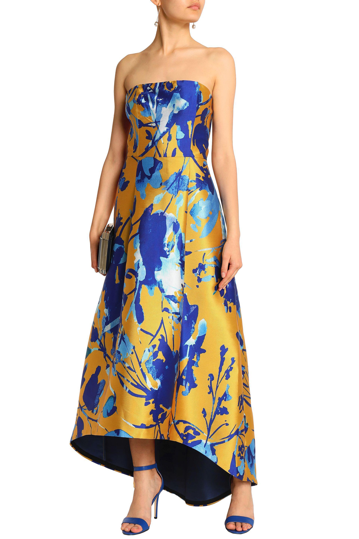 f87e763a34c Lyst - Sachin   Babi Strapless Floral-print Duchesse Satin-twill ...