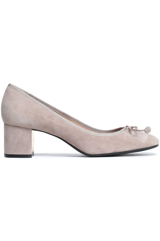 8cf7225b62cc4 Tory Burch. Women s Woman Bow-detailed Suede Court Shoes Stone