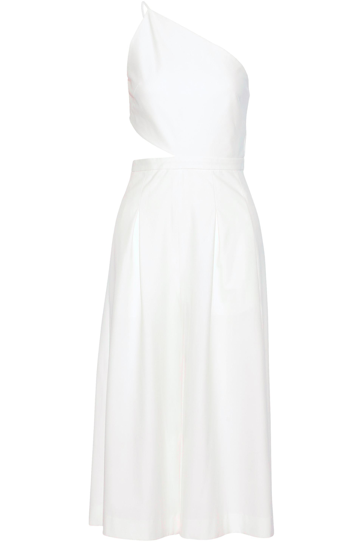 818ed3a138ce Lyst - Michelle Mason One-shoulder Cutout Woven Jumpsuit in White