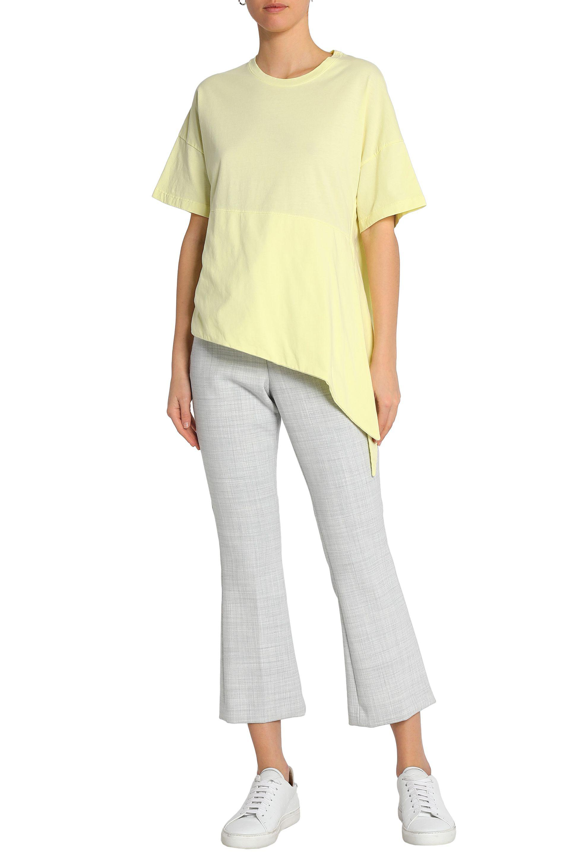 Lyst Iris Ink Asymmetric Cotton Jersey T Shirt In Yellow