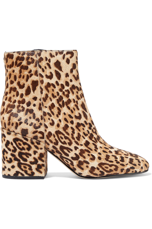 42ce9a3a7fdaea Sam Edelman Taye Leopard-print Calf Hair Ankle Boots in Brown - Lyst