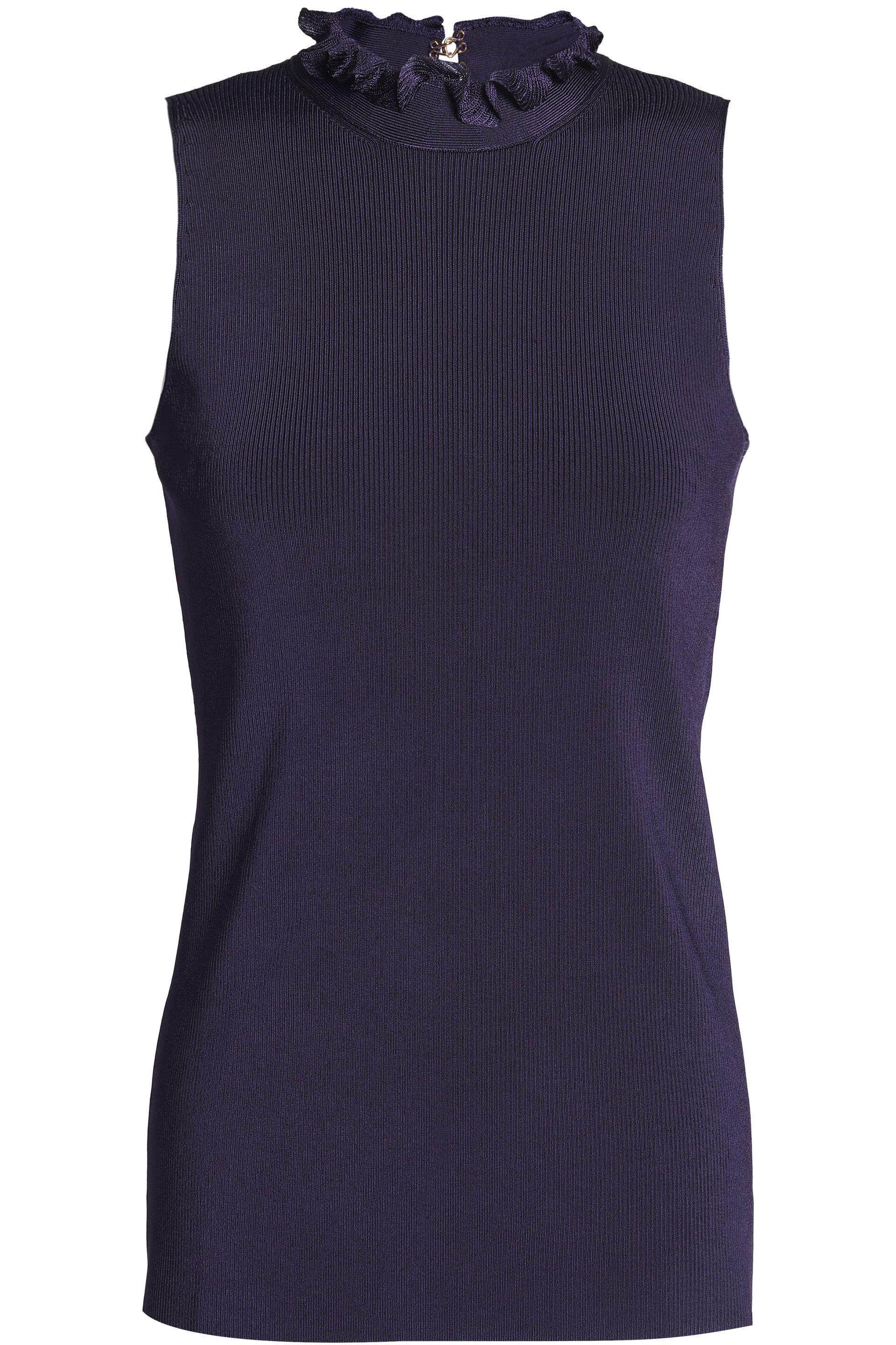 Outlet With Mastercard Best Place Online Nina Ricci Sleeveless Rib Knit Top ODQbfn