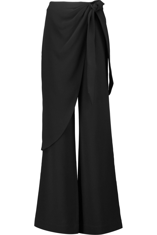 Ruffle Drape Trousers - White Cinq À Sept 8MLLehoP9D